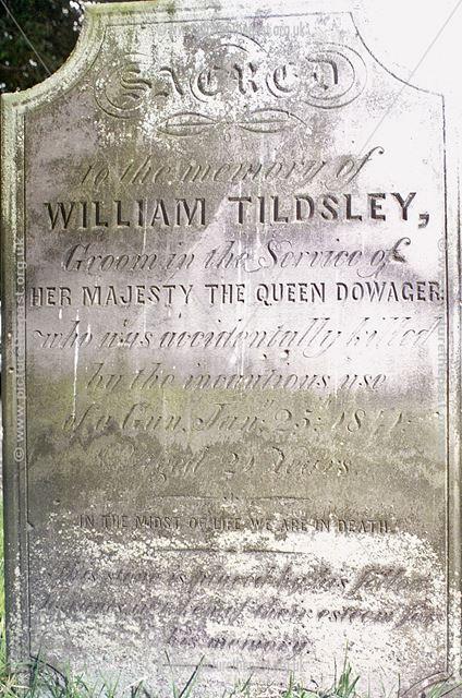William Tildsley's Grave, All Saint's Church, Sudbury