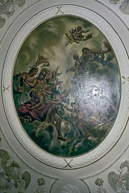 Ceiling Painting in the Hall, Staunton Harold