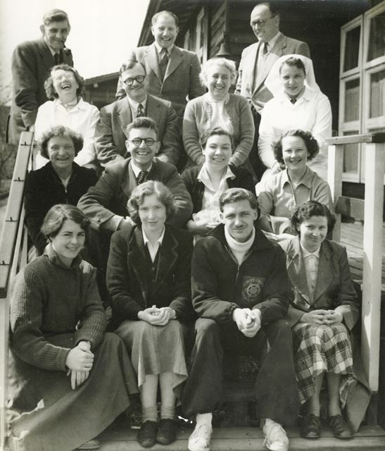 Pipewood School Staff, Blithbury, nr Rugeley, Staffordshire, 1955