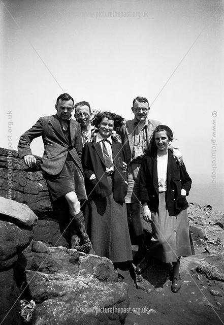 Ramblers on Stanage Edge, 1930s