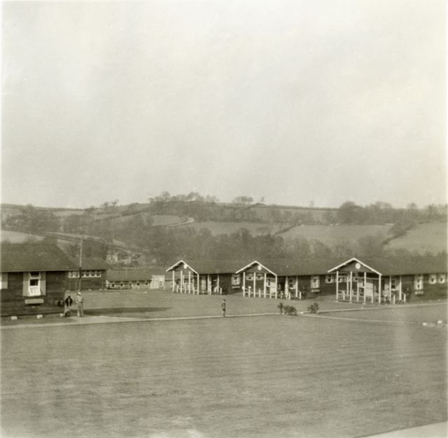 General View of Dormitories, Amber Valley Camp School, Woolley Moor, c 1940s?
