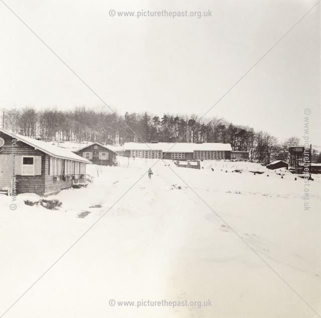 Amber Valley Camp School Dormitories in Snow, Woolley Moor, 1947