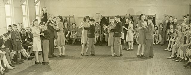 'Now is the time for dancing', Amber Valley Camp School, Woolley Moor, c 1940s-50s