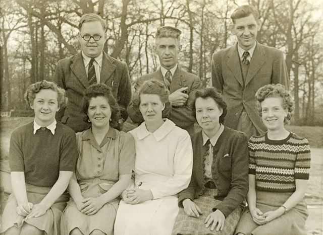 Some of the staff - 'The Originals', Amber Valley Camp School, Woolley Moor, c 1940s-50s