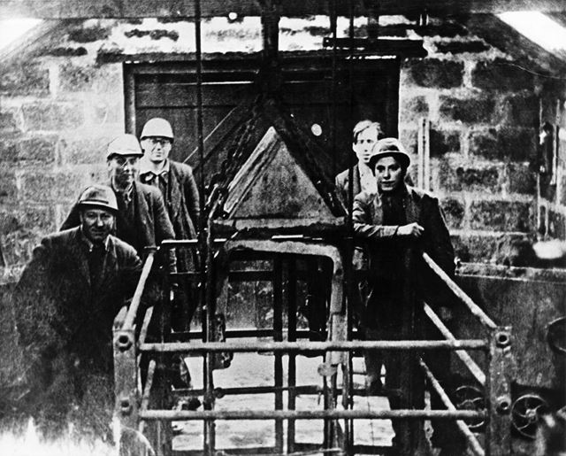 Workers at OxClose Mine, Snitterton, c 1960