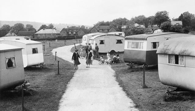 Caravan Holidays and Holiday Makers, Two Dales, c 1960