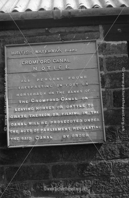 Notice on British Waterways workshops