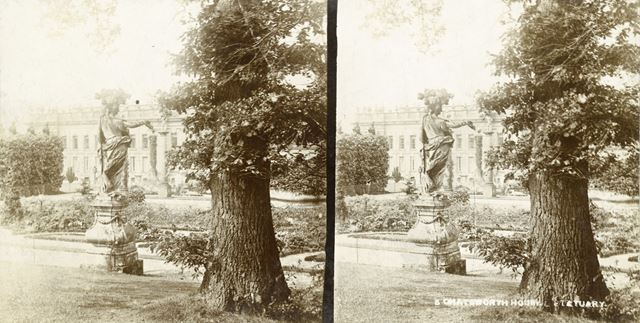 Statue of Flora in the French Garden, Chatsworth House, Derbyshire, c 1900