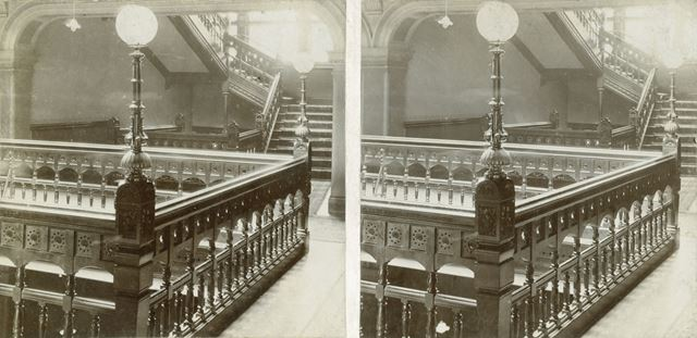 2nd Floor Landing of Main Staircase, Smedley's Hydro, Smedley Street, Matlock, c 1900