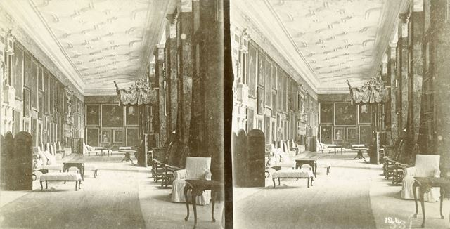 The long Gallery, Hardwick Hall, Hardwick, Derbyshire, c 1900