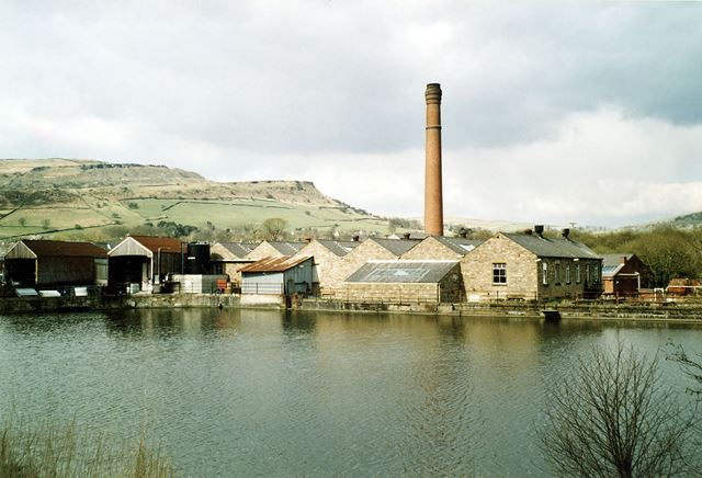 Forge Bleach Works. Whitehough, with Cracken Edge Quarries in the background