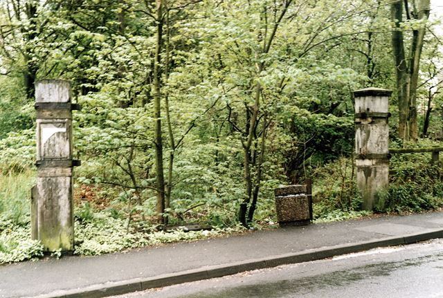 Level Crossing Gates, Waterside Branch line on A626, Gamesley, Glossop, c 1980s