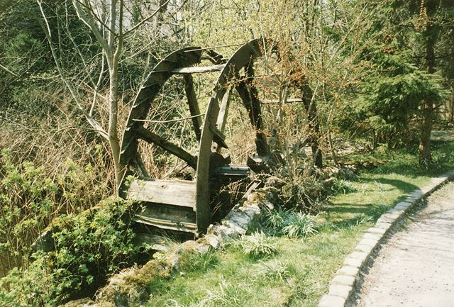 Relocated Water Wheel, Corn Mill, Hope, c 1980s