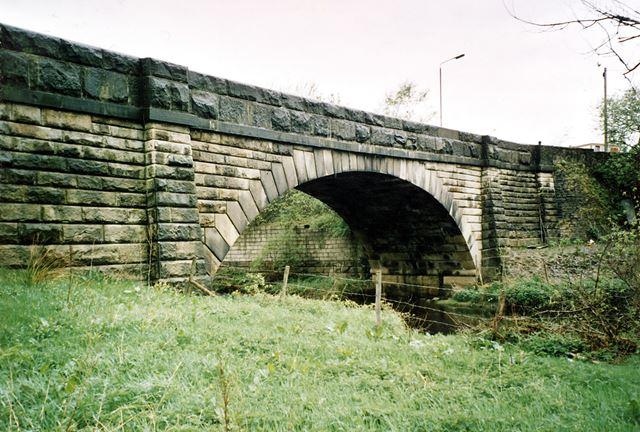 Tintwistle Bridge over River Etherow, c 1980s