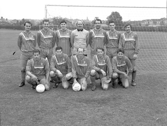 West Hallam Football Team, Beech Lane Recreation Ground, West Hallam, 1980s