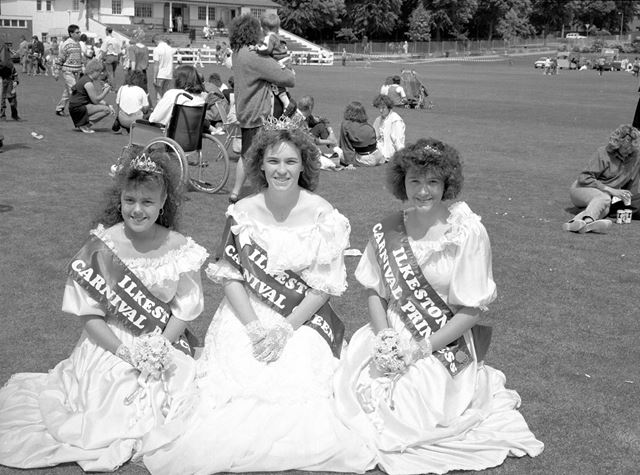 Ilkeston Carnival Queen and Princesses, Rutland Recreation Ground, Oakwell Drive, Ilkeston, 1980s