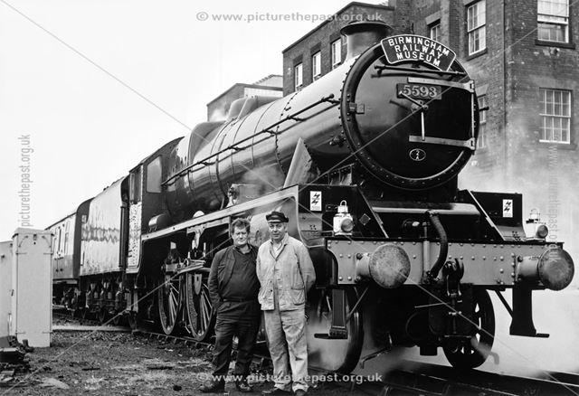 Jubilee loco Kolhapur, Midland Railway Station, Railway Terrace, Derby, 1988