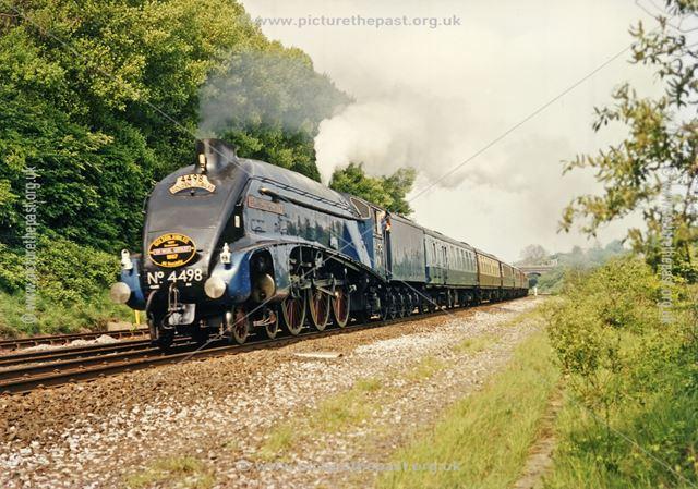Steam loco Sir Nigel Gresley, Osmaston Park Road, Derby, 1987