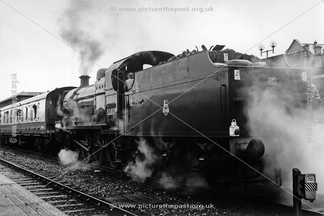 Steam loco Somerset and Dorset, Midland Railway Station, Railway Terrace, Derby, 1988