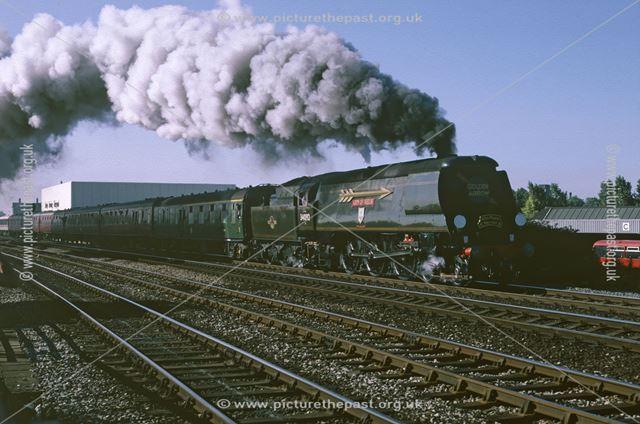 Steam loco City of Wells, Midland Railway Station, Railway Terrace, Derby, 1988