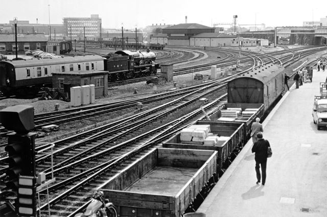 View of Derby Power Box and Railway Technical Centre, Midland Railway Station, Derby, 1987