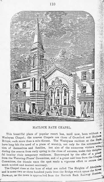 Wesleyan Chapel, South Parade, Matlock Bath, c early 1900s?