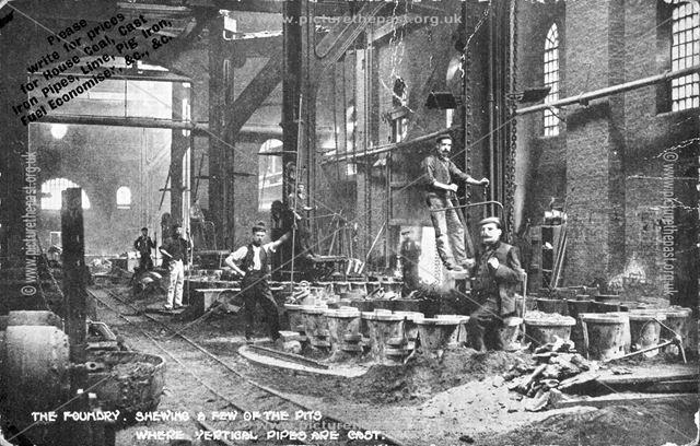 Clay Cross Ironworks Interior, c 1890s-1910s