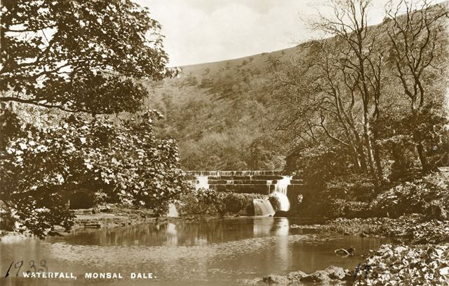 Monsal Dale Waterfall, c 1933