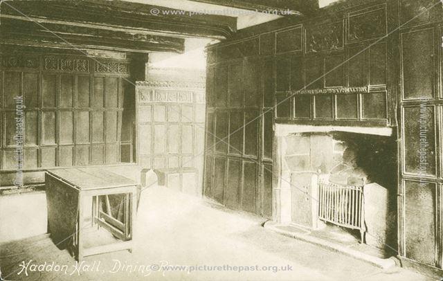 Haddon Hall Dining Room, Bakewell, c 1900s