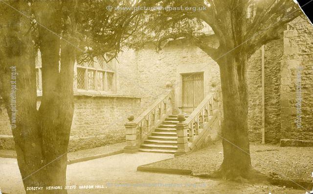 Dorothy Vernon's Steps, Haddon Hall, c 1900s