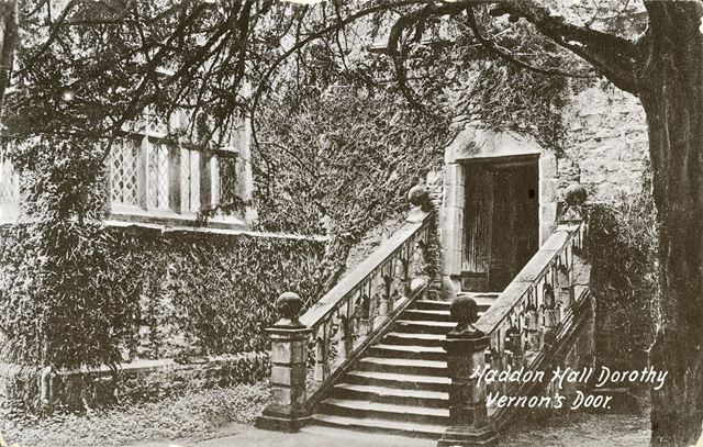 Dorothy Vernon's Steps and Doorway, Haddon Hall, Bakewell, c 1900s