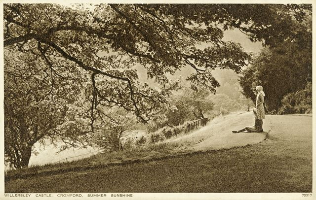 andquot;Summer Sunshineandquot;, The Grounds of Willersley Castle, Cromford, c 1920s?