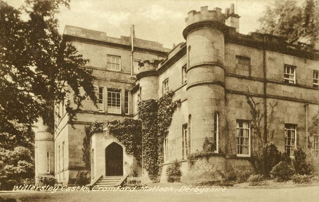The Front Entrance, Willersley Castle, off Mill Road, Cromford, 1928