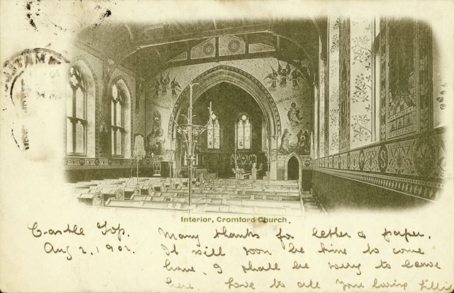 Interior - St Mary's Church, off Mill Road, Cromford, 1902