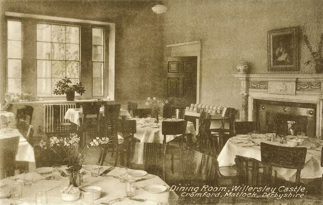 The Dining Room, Willersley Castle, Cromford, c 1930s?