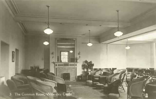 The Common Room, Willersley Castle, Cromford, c 1930s?