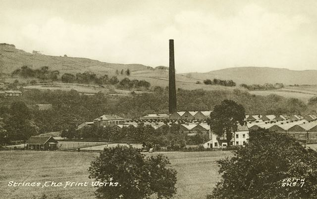 The Print Works, off Station Road, Strines, near Marple, c 1930s