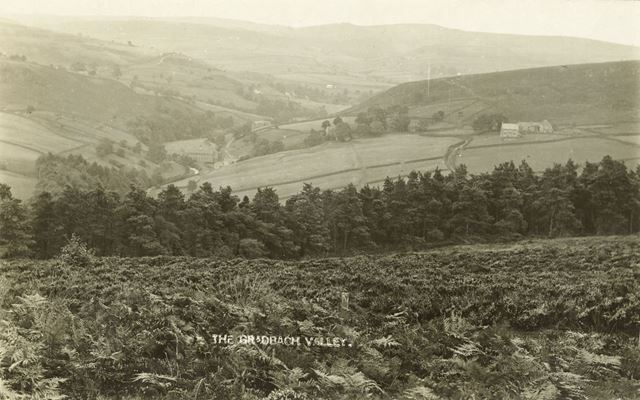 View of the Dane Valley from Lud's Church, Staffs, 1925