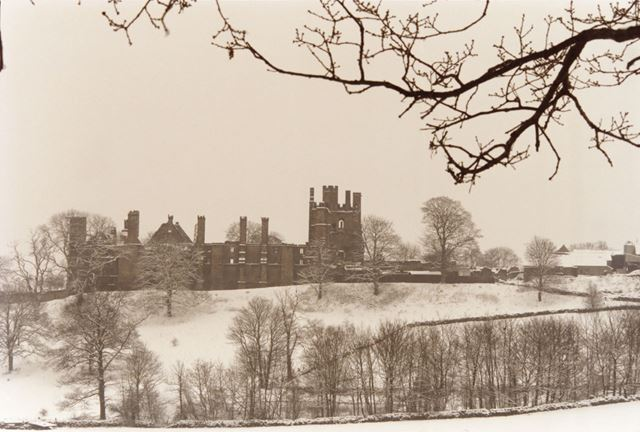 Wingfield Manor in Winter, South Wingfield, c 1990s-2000s