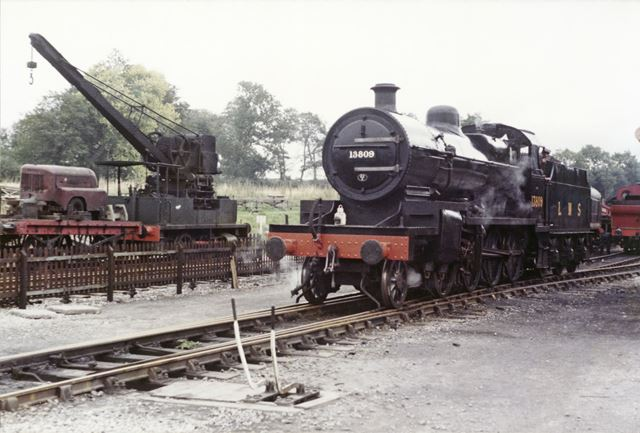 LMS Steam Engine at Butterley Midland Railway Centre, c 1980s
