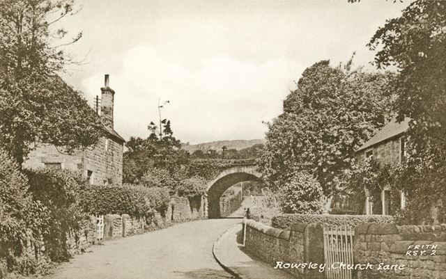 Church Lane, Rowsley, c early 1900s?