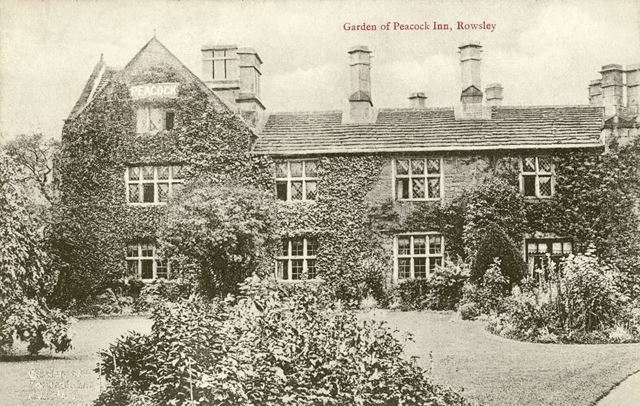 Garden of the Peacock Inn, Dale Road North (A6), Rowsley, early 1900s?