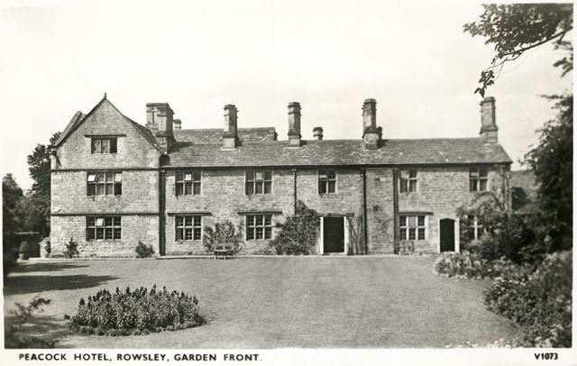 Peacock Hotel from the garden, Dale Road North (A6), Rowsley, c 1930