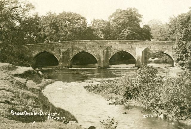 Bridge over the Derwent, Dale Road North (A6), Rowsley, c 1917