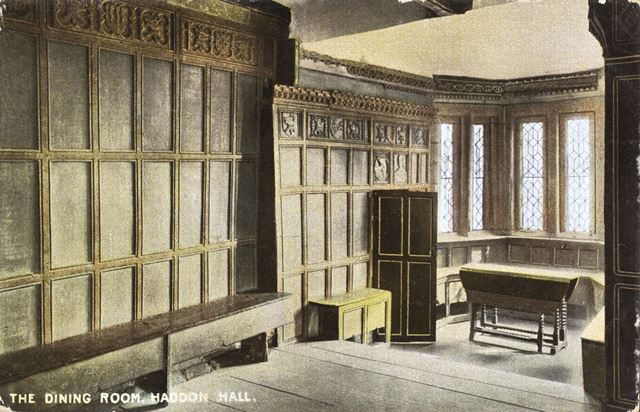 Dining Room, Haddon Hall, Bakewell, c 1900s-1910s