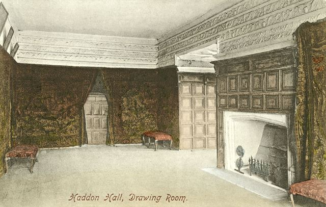 Drawing Room, Haddon Hall, Bakewell, c 1900s-1910s