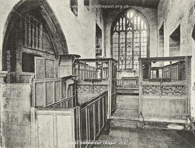 The Chapel, Haddon Hall, Bakewell, c 1900s-1910s