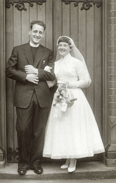 Wedding of Rev. Brian Stocks and Bernice Bond, South Normanton, 1958