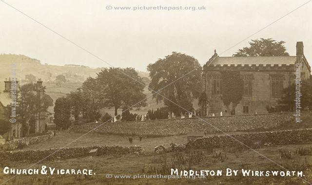 Holy Trinity Church, Main Street, Middleton-by-Wirksworth, c 1900s