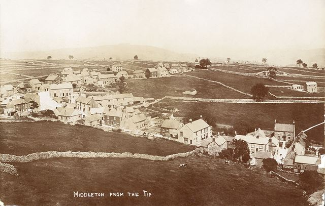 View from The Tip, Middleton-by-Wirksworth, c 1905
